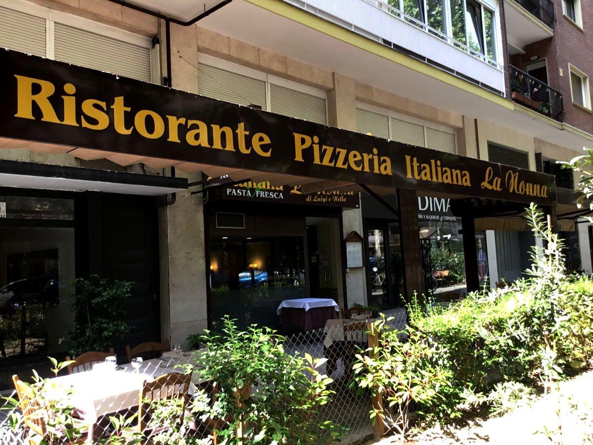 Restaurante italiano en Madrid la nonna di luigi e nella